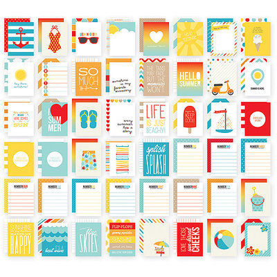 Simple Stories Sn@p! Double-Sided Card Pack 3inX4in 48/Pkg-Summer