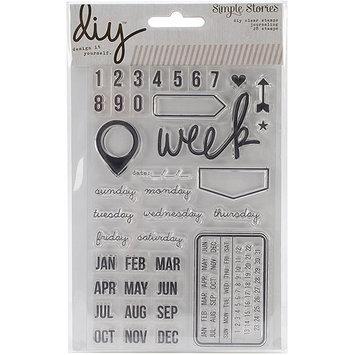 Simple Stories DIY Stamps 4inX6in-Date