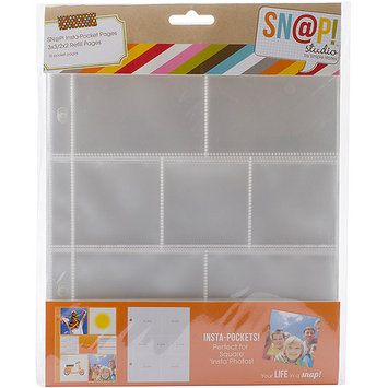 Simple Stories Sn@p! Insta Pocket Pages For 6inX8in Binders 10/Pkg-(3) 2inX2in & (4) 3inX3in Pockets