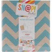 Simple Stories Sn@p! Burlap Binder 6inX8in-Red
