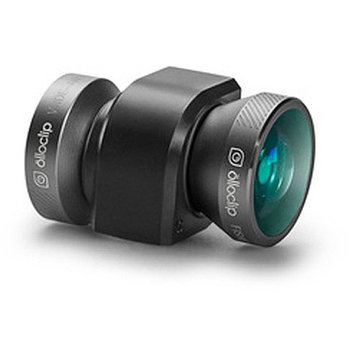 olloclip 4-in-1 Lens System- iPhone 5/5S Space Gray Lens/Black Clip, One Size
