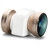 olloclip 4-in-1 Lens System- iPhone 5/5S Gold Lens/White Clip, One Size