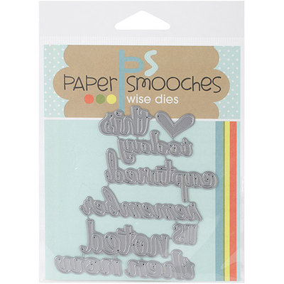 Paper Smooches Die-Documented