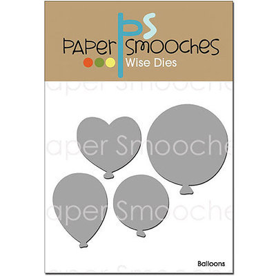 Paper Smooches Die-Balloons