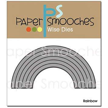 Paper Smooches Die-Rainbow