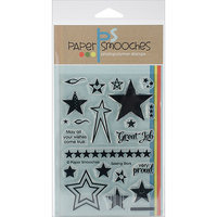 Paper Smooches M1S205 Paper Smooches 4 in. x 6 in. Clear Stamps-Seeing Stars