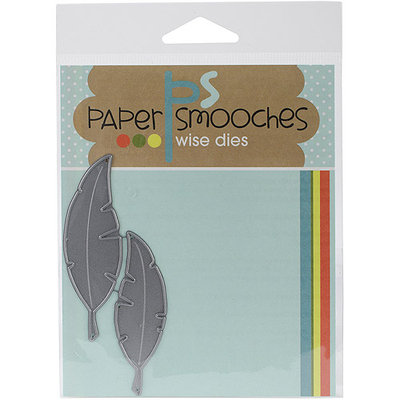 Paper Smooches Die-Feathers