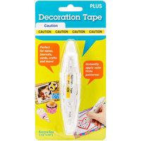 Plus Corporation Decoration Stamp Roller-Caution Tape