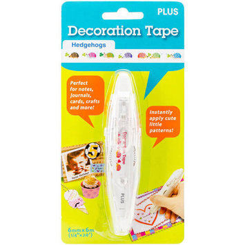 Plus Corporation Decoration Stamp Roller-Hedgehogs