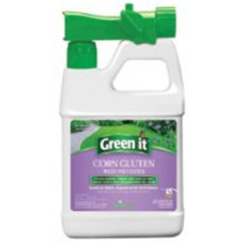 Green It Fertilizer. 64 oz. RTS Corn Gluten Weed Preventer