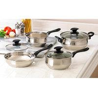 Malibu Creations Stainless Steel 7-Piece Cookware Set