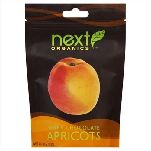 Next Organics Dark Chocolate Covered Apricots, 4 oz