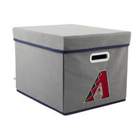 David Shaw Silverware Na Ltd Atlanta Braves MLB StackIts Stackable Fabric Storage Cube (Gray)