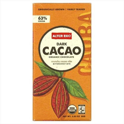 Alter Eco Organic Dark Chocolate Bar Dark Cacao 2.82 oz