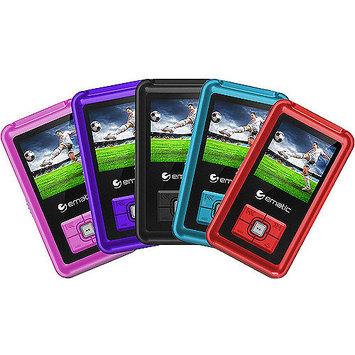 Ematic EM208VIDPR 8GB Mp3 Player with FM - 1.5-inch LCD Display - Purple
