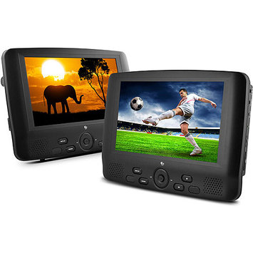 Ematic ED929D Dual Screen Portable DVD Player - 9.0-inch Display