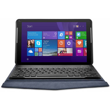 Xo Vision Ematic Ewt106-bl 10 Hd Quad Core Tablet With Windows[r] 8.1 And Keyboard Folio