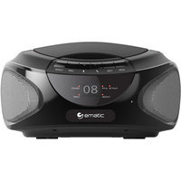Ematic Ebb9224rd CD Boombox With Bluetooth Audio & Speakerphone Red