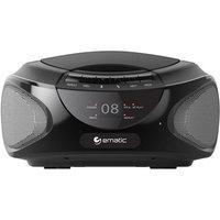 Ematic Ebb9224bl CD Boombox With Bluetooth Audio & Speakerphone Black