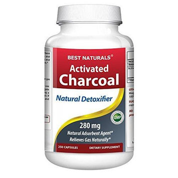 Best Naturals - Activated Charcoal 280 mg. - 250 Capsules