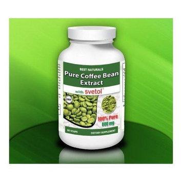Best Naturals,100% Pure Green Coffee Bean Extract w/SVETOL 200 mg- 60 Vegetarian