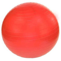 J/Fit Professional Grade Exercise Ball 45cm with Pump (Ruby Red)