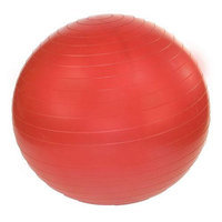 J/Fit Stability Exercise Ball 75cm with Pump, Tomato Red