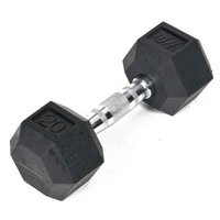 JFit Rubber Coated Hex Dumbbell - 20 lb. Single
