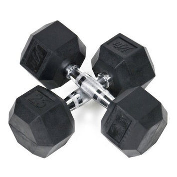Pair of Rubber Coated Hex Dumbbells Size: 8 lbs
