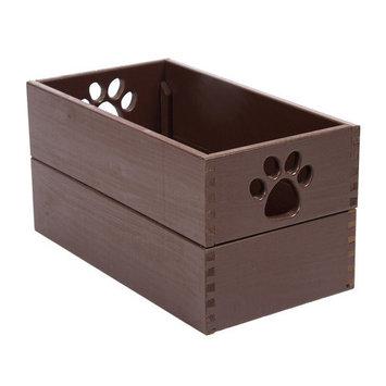 Dynamic Accents 42133 Small Pet Toy Box Mahogany
