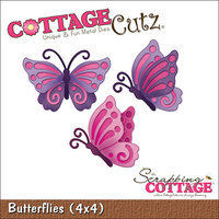 CottageCutz Die 4 X4 -Butterflies