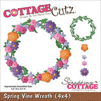 CottageCutz Die 4 X4 -Spring Vine Wreath