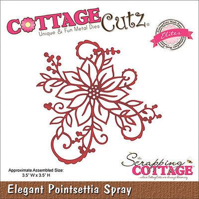 CottageCutz CCE036 Elites Die-Elegant Poinsettia Spray