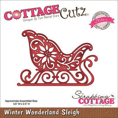 CottageCutz CCE051 Elites Die-Winter Wonderland Sleigh