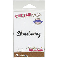 CottageCutz Expressions Die 2.9inX.8in-Christening