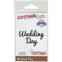 CottageCutz Expressions Die 3.3inX.8in-Wedding Day