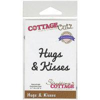 CottageCutz Expressions Die 3.7inX.8in-Hugs & Kisses
