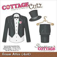 CottageCutz Die 4inX4in-Groom Attire