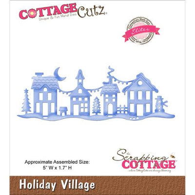 CottageCutz Elites Die -Holiday Village