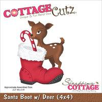 CottageCutz Die -Santa Boot W/Deer