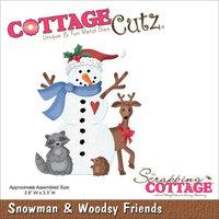 CottageCutz Die -Snowman & Woodsy Friends