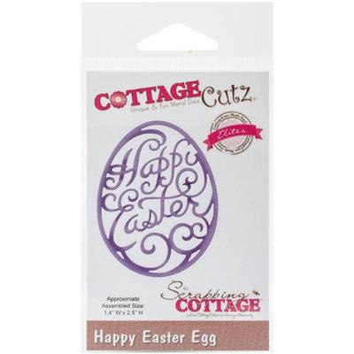 CottageCutz Elites Die-Happy Easter Egg 1.4