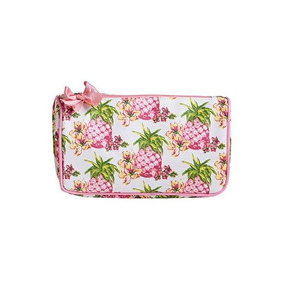 Jessie Steele 904-JS-249S Pink Pineapples Generous Cosmetic Bag Pack Of 2