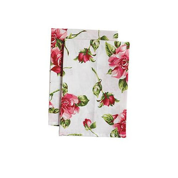 Jessie Steele 23-JS-250W Pink Magnolias White Cloth Napkin Pack Of 2