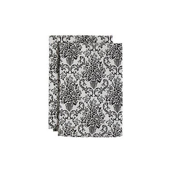 Jessie Steele 23-JS-229C Bouquet Damask Cream And Black Cloth Napkin Pack Of 2