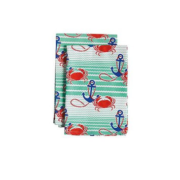 Jessie Steele 23-JS-255 Nautical Waves Cloth Napkin Pack Of 2