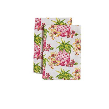 Jessie Steele 23-JS-249 Pink Pineapples Cloth Napkin Pack Of 2