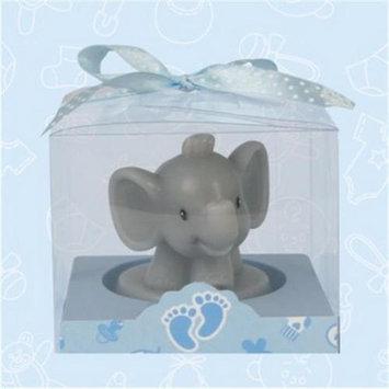 De Yi Enterprise De Yi 11007-BL Safari Elephant Candle Favors in Blue