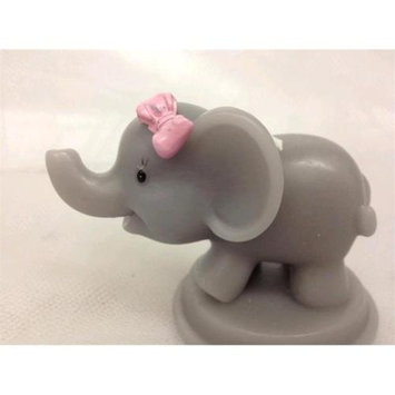 De Yi Enterprise De Yi 11007-PK Safari Elephant Candle Favors in Pink