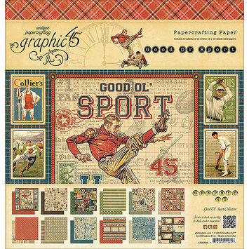 Graphic Good Ol' Sport Double-Sided Paper Pad 12